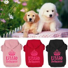 Cute Dog Hoodie Sweater Clothes Crown Pattern Pet Puppy Coat Small and Large