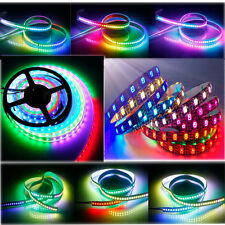WS2812B 5050 RGB LED Strip Lights 1M 60 144 5M 150 300 Individual Addressable 5V