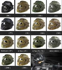 Military Tactical Airsoft Paintball Helmet Protector Mask Goggles G4 System #GY