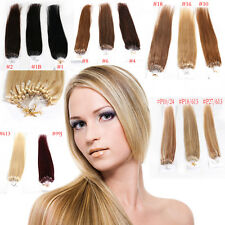 "200S 5A micro easy loop ring bead Tipped remy human hair extensions 100g 18""-24"""