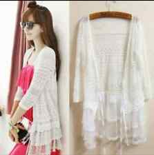 Ladies cardigan boho style lace and crochet top 14-16, 16-18, 18-20, 20-22
