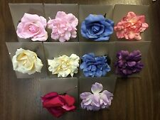 3 PACK Blooming Blossoms Pin, Choker, Pony-o and Corsage flowers pick your color