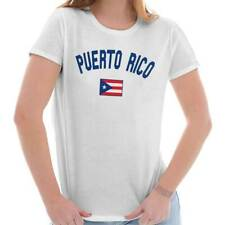 Puerto Rico Flag World Cup Soccer Puerto Rican National Flag Ladies T-Shirt