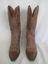 1883 LUCCHESE - Mens Cowboy Western Boots - Brown Tooled Design Size 8B  rr