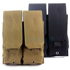 Tactical Molle Dual Double Mag Magazine Pouch Holster For M4/AR15/M16 outdoor
