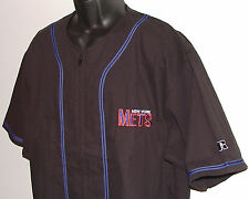 Vintage 90's MLB NY New York METS JERSEY Russell SEWN Letter NWT New Old Stock