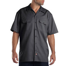 Dickies Men's Charcoal Short Sleeve Work Shirt Size M-3XL NWT Quality Counts
