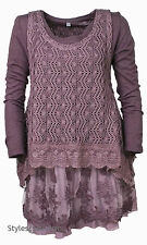 NWT  Pretty Angel Clothing Ameline Two Piece Modern Sweater In Purple  18715