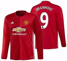ADIDAS ZLATAN IBRAHIMOVIC MANCHESTER UNITED LONG SLEEVE HOME JERSEY 2016/17