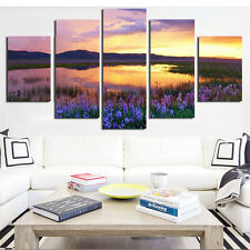 Popular Oil Canvas Painting Prints Landscape Painting Calligraphy No Frame 5PCS