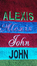 Luxury Towels  / personalised with your/any  name choice FREE TOWEL OFFER