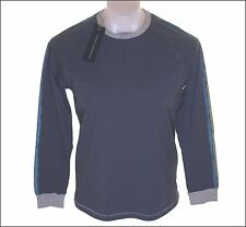 Bnwt Mens Fcuk French Connection Long Sleeved T Shirt Top RRP£40 Blue New