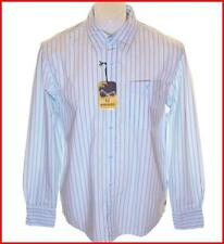 Bnwt Authentic Mens Wrangler Vintage Maverick Long Sleeve Striped Shirt Blue