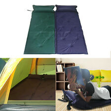 Self Inflate Sleeping Mat Camping Mattress Attachable Air Bed Attached Pillow