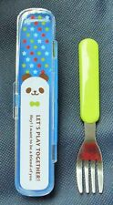 Panda / Car Stainless Steel Fork Set Plastic Handle with Clear Cover Case
