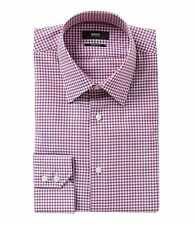 HUGO BOSS ENZO US BLACK LABEL DRESS SHIRT POINT REGULAR FIT RED CHECKED-NWT