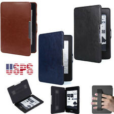 """Slim PU Leather Magnetic Folio Cover Case For 6"""" Amazon Kindle Paperwhite 1 2 3"""