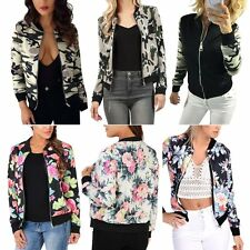 Fashion Floral Womens Blazer Long Sleeve Coat Casual Slim Short Jacket Outerwear