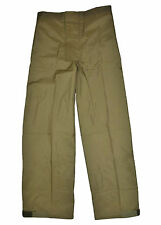 Genuine Danish Army Wet Weather Rain Over Trousers Combat Olive Green Waterproof