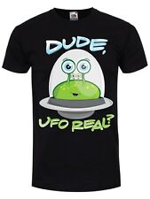 Dude UFO Real? Men's Black T-shirt