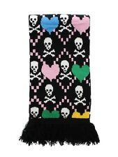 New Skull & Hearts Multi Coloured Scarf