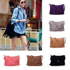 Fashion Tassel Celebrity Suede Fringe Shoulder Messenger Cross Body Bag Handbag