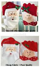 Mr / Mrs Santa Claus Hat Kitchen Dinner Chair Stool Cover Seat Christmas Decor