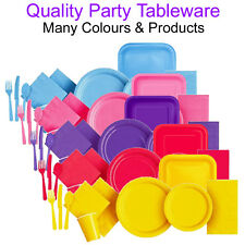Wedding Tableware Party Paper Plates Napkins Cutlery Cups Plastic Disposable UK