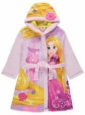 Girls Disney Princess Rapunzel Fleece Hooded Dressing Gown Robe Age's 2-8 Years