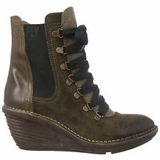Fly London Suzu Osuede Wedge Sludge Womens Boots