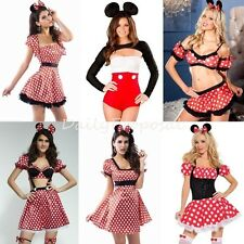 Sexy Mickey & Minnie Mouse Dress Bodysuit Adult Women Halloween Costume USA