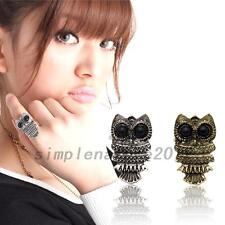 Adjustable Owl Round Eyes Antique Finger Ring Fashion Jewelry Christmas Present