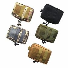 MOLLE Airsoft Tactical Pouch First Aid Magazine Drop Vest Phone Wallet Bag Box