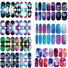 Nail Art Water Transfer Wraps Stickers Decals DIY Tips Decor Foil Full Wraps
