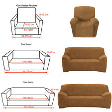 Stretch Recliner Couch Sofa Cover Slipcover 1 2 3 Seater CAMEL Lounge Covers New