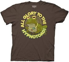 Futurama All Glory to the Hypnotoad Brown Adult T Shirt