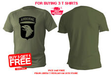 T shirt Mens dry fit short sleeve green olive military army usa airborne man