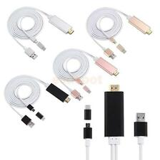 3 IN 1 Dock to HDMI AV Cable Adapter 1080P HDTV For iPhone Samsung iPad PC