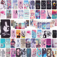 For Samsung Galaxy S5 S5 Neo Folio Cute Print Wallet PU Leather Stand Case Cover