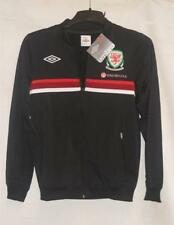 BNWT Umbro Wales Welsh Cymru Football Retro Black Track Jacket RRP £45 AT £29.99