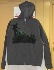HANES BOYS SOFT SWEATS ZIPPER HOODIE  WITH SKATE BOARD GRAPHIC **NEW WITH TAGS**