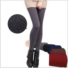 Womens Warm Winter Skinny Slim Leggings Stretch Pants Thick Footless Sexy