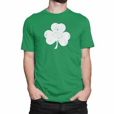 Distressed Shamrock T-Shirt Green Irish Pride St Patricks Day Tee Shirt Mens New