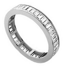 0.75ct Baguette Cut Diamonds Full Eternity Wedding Ring in 18K White/Yellow Gold
