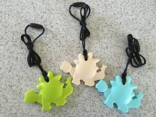 "Silicone Teether Teething Beads Baby & Mum Jewellery Necklace Pendant ""Dinosaur"""