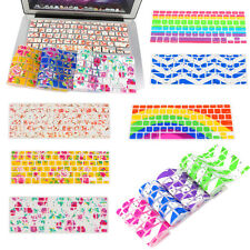 "Colorful Computer Keyboard Skin Cover Protector For Macbook 13"" 15"" 17"""