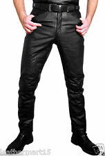 Men Leather Pant Trouser Genuine Lambskin Pure Leather Soft Sexy Trouser Pant 04