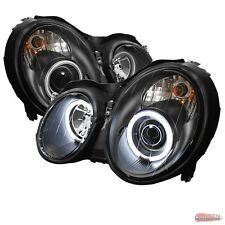 Fits 98-02 Mercedes Benz Clk Class CCFL Halo BLK Projector Headlights Lamps