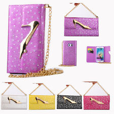 Luxury High-heeled Shoes Soft Leather Card Wallet Cover Case For Samsung Galaxy