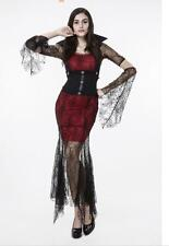 Women Sexy Lace Adult Vampire Witch Costume Fancy Cosplay Halloween Clothes